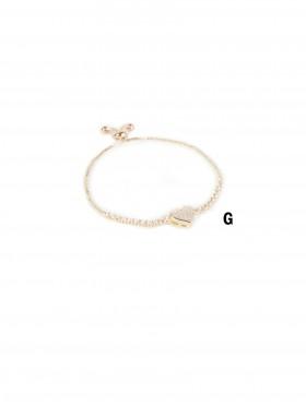 Adjustable Heart Rhinestone Stretch Bracelet