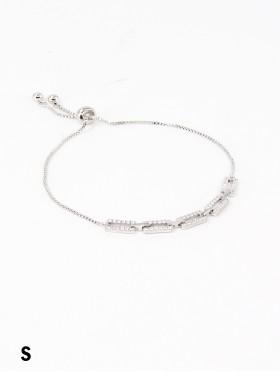 Adjustable Chain Design Rhinestone Stretch Bracelet