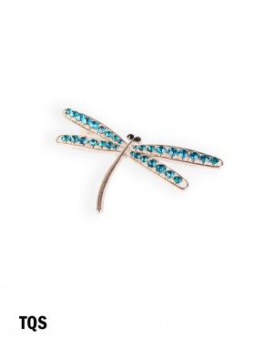 Coloured Rhinestone Dragonfly Brooch