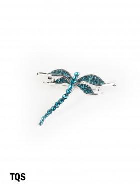 Rhinestone Dragonfly Brooch