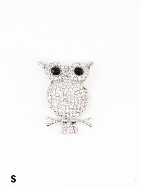 Owl on Branch Design Brooch