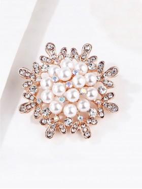 Pearl Flower Brooch