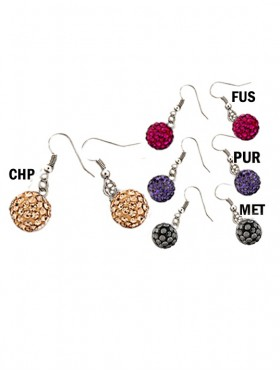 SHAMBALLA HOOK EARRINGS (LARGE)