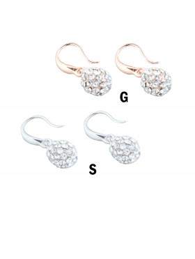 CIRCLE RHINESTONE EARRING