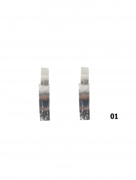 TEXTURE RECTANGLE CLIP-ON EARRINGS