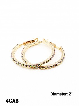 Rhinestone Big Hoop Earrings