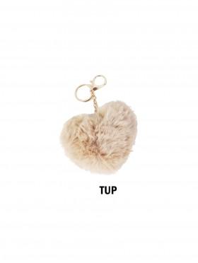 Fur Heart Shape Keychain