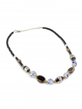Bead Black Rope Necklace