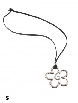 Rope Necklace W/ Flower Pendant