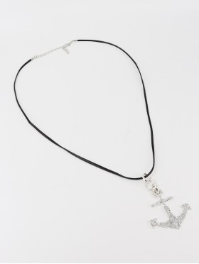 Rope Necklace W/ Anchor Pendant