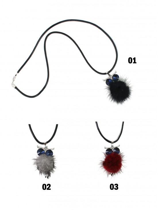 Rope Necklace W/ Owl Pendant