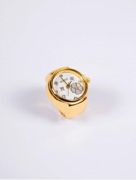 Flower Print Finger Watch W/ Elasticated Band