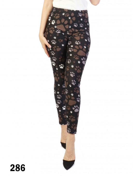 Paw Print Stretchy Legging
