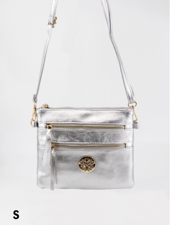Premium Zip Faux Leather Crossbody