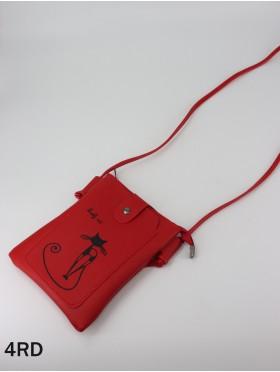 Love Cat Faux Leather Cellphone Bag