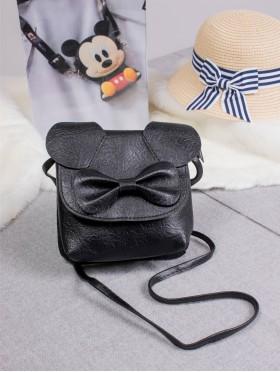 Cutie Bow Faux Leather Crossbody Bag