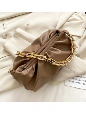 Premium Faux Leather Crossbody W/ Chain