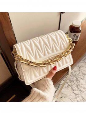 Premium Faux Leather Fashion Crossbody W/ Chain