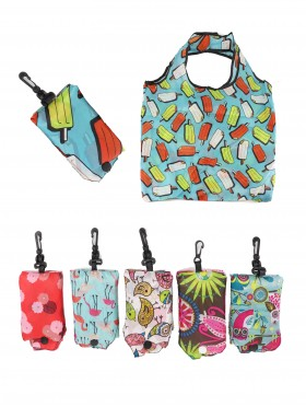 Reusable Foldable Shopping Bags (12 pcs)