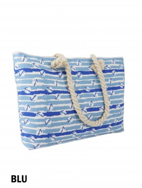 Canvas Anchors Shoulder Tote