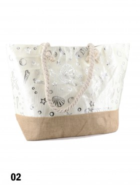 Ocean Collection Foil Print Shoulder Tote