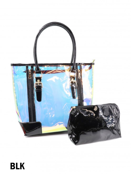 Fluorescent Tote Bag W/ Zip Closure