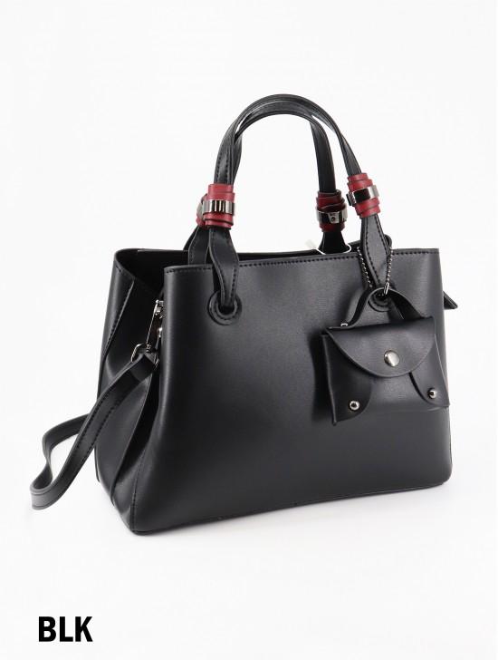 Premium Solid Color Faux Leather Tote