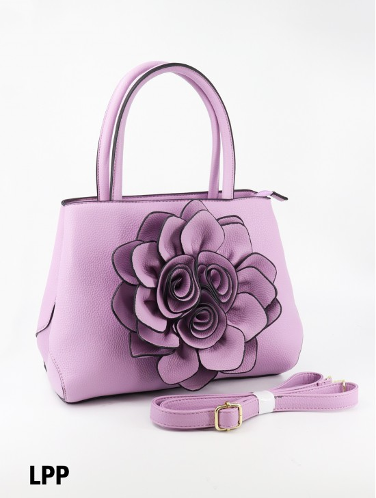 Premium Flower Lady Tote W/Zip Closure & Long Strap