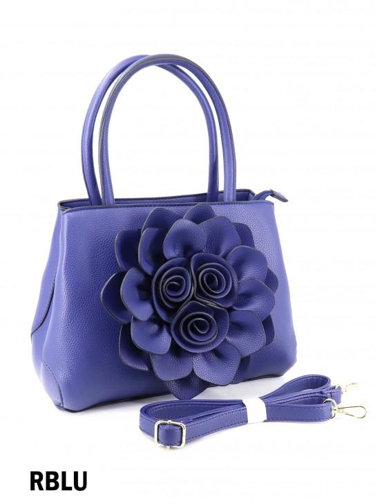 Premium Flower Lady Tote W/Zip Closure & Long Strap