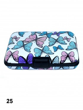 BUTTERFLY PATTERN CREDIT CARD WALLET