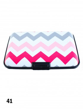 Zig Zag Print Credit Card Wallet