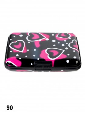 Black&Pink Hearts Credit Card Wallet
