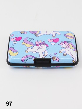 Unicorn Print Credit Card Wallet