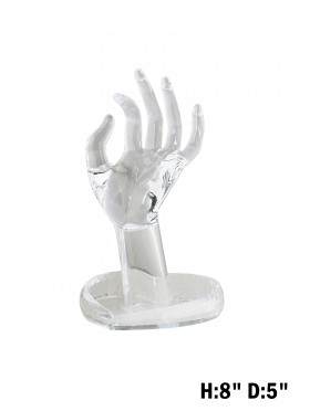 Clear Hand Display with Jewellery Holder Base