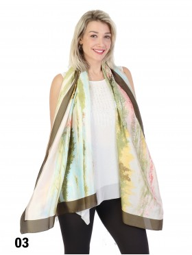 Oil Painting Design Fashion Silk Scarf