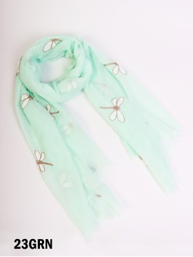 Dragonfly Stitch Fashion Scarf