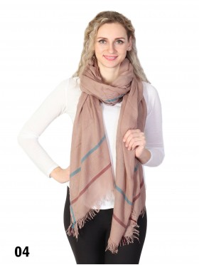 Multi-Line Striped Scarf