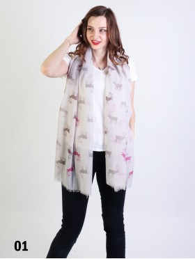 Caribou Print Fashion Scarf