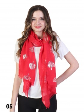 Foil Tree of Life Print Scarf