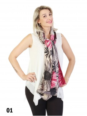 Flower Print Fashion Scarf