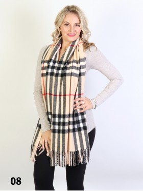 Heavy Plaid Cashmere Feeling Scarf