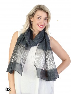 Silver Filigree Fashion Scarf