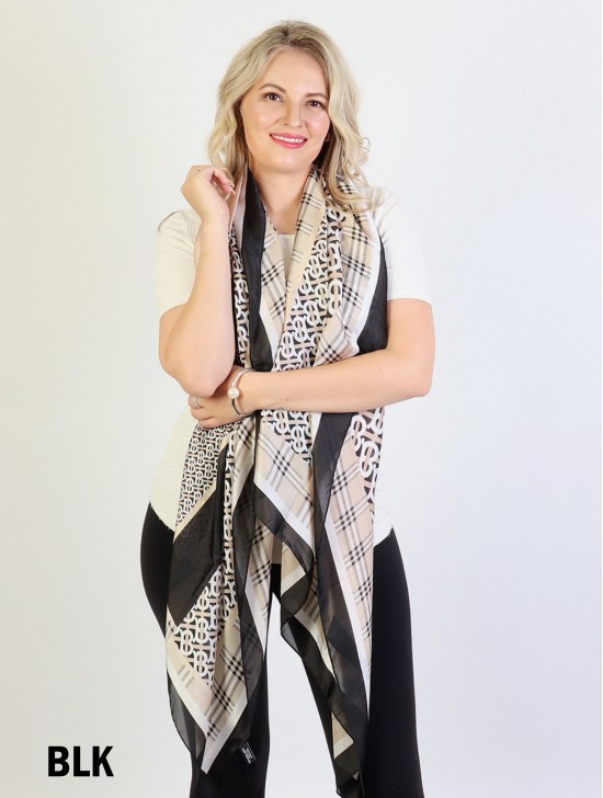 Fashion print Silk scarf