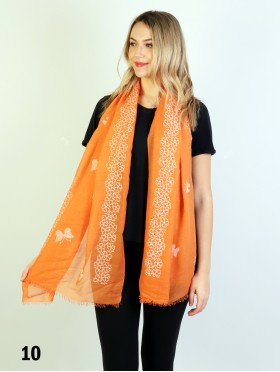 Butterflies & Pearls Stitch Print Fashion Scarf