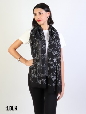 Music Notes Light Weight Scarf