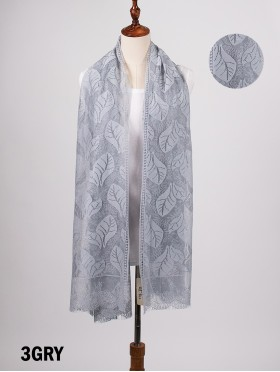 Leaves Cut-Out Lace Design Scarf