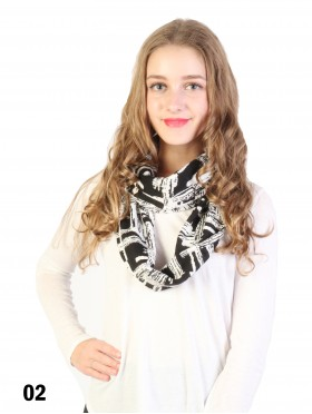 Two Tone Fashion Loop Scarf