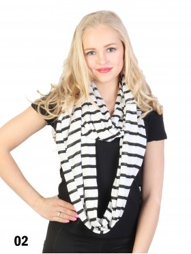 STRIPE JERSEY LONG LOOP
