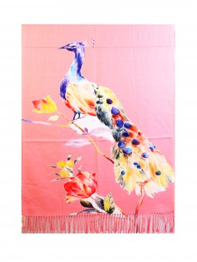 Oil Painting Design Fashion Scarf W/ Fringes