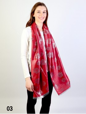 Rose Silver Thread Scarf